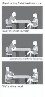 Speed Dating Meme - 2nd amendment speed dating