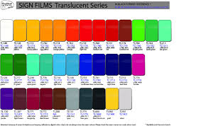 Colour Grafityp Selfadhesive Products Colour Charts