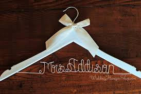 wedding dress hanger custom bridal hanger wedding hangers with your new last name