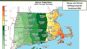 Cape Cod Weather October - these 3 maps show much rain is expected to fall through thursday