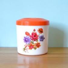 funky kitchen canisters vintage salt canister ceramic hanstan funky flamingo vintage