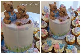 teddy baby shower teddy baby shower cupcakes cupcakes2delite