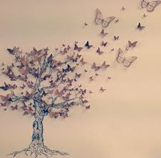 gcse butterfly nature tree gcse design canvas a