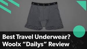 Best underwear for travel woolx daily review merino wool anti
