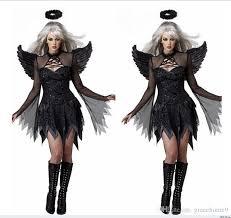 Halloween Costumes Devil Woman Free Size Sale Women Black White Devil Costume Halloween