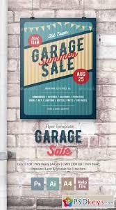 garage sale flyer poster 17121983 free download photoshop vector