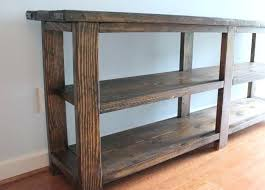 Diy Console Table Plans Entryway Tables Entry Table Diy Rustic X Console Plans Wood