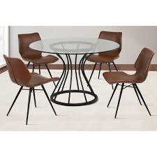 Eames Chair Dining Table Dining Table Charles Eames Style Glass Top Dining Table