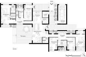 plan plain pied 3 chambres beau plan maison plain pied 3 chambres avec suite parentale idées