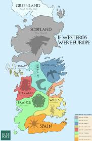Where Is Portugal On The Map This Map Of Westeros Shows The European Equivalents Of The Seven
