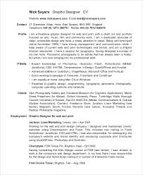 sample curriculum vitae 10 examples in pdf word