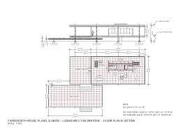 farnsworth house floor plan dwg