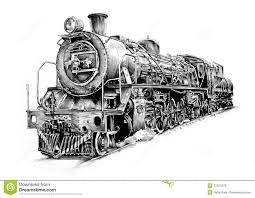 steam engine art design drawing royalty free stock images image