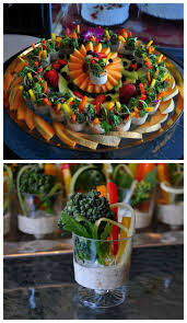 a delicious fruit and veggie shooters platter beautiful healthy