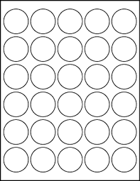 1 Inch Circle Template by White Uncoated Labels 1 1 2 Diameter Circle Lt6020 30c