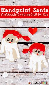 handprint santa craft an adorable christmas decoration for kids
