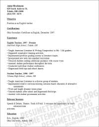 Samples Of Resumes For Teachers by Letter Of Introduction For A Teacher Canadian Resume Writing