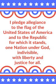 I Pledge Of Allegiance To The Flag Sunshine And Spoons Pledge Of Allegiance Printable