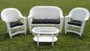 White Wicker Outdoor Patio Furniture Patio Seating Patio Chairs White Wicker Furniture