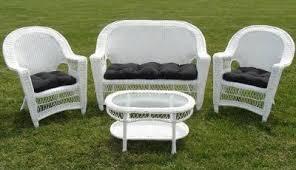White Patio Furniture Set Patio Seating Patio Chairs White Wicker Furniture