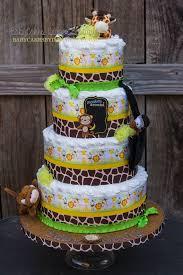 Safari Boy Baby Shower Ideas - best 25 jungle diaper cakes ideas on pinterest safari diaper