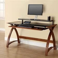 Black Glass Top Computer Desk Walnut Computer Desk Home Office Desks Foter Onsingularity