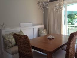 dining table with high back bench banquette feat rattan dining
