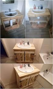 Bathroom Cabinets With Sink Diy Pallet Sink With Cabinet How To Make Bathroom Cabinets Out Of