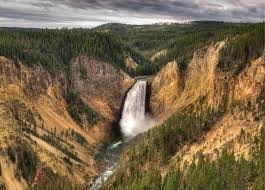 Wyoming waterfalls images Waterfall wyoming waterfalls usa yellowstone falls lower river jpg