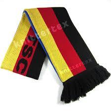 Germman Flag German Flag Patterned Two Sided Knit Fan Scarf Knittertex