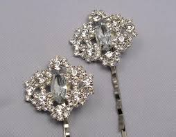 decorative bobby pins rhinestone bobby pins bridal wedding hair pins silver