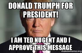 I Approve Meme - donald trumph for president i am ted nugent and i approve this
