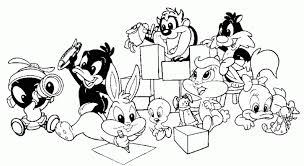 baby looney tunes coloring pages colorine net 20941