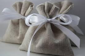 linen favor bags set of 100 wedding favor wedding bags oatmeal grey linen favor