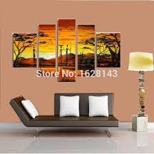 Pictures For Home | 100 hand painted canvas art modern indian landscape oil painting