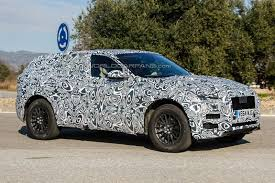 jaguar f pace black jaguar f pace spotted with the production body