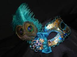 peacock masquerade masks masquerade mask in shades of teal turquoise and gold with peacock