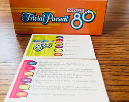 trivial pursuit 80s trivial pursuit etsy