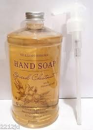 spiced chestnut soap williams sonoma spiced chestnut 16oz soap christmas