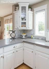 Kitchen Countertop Size - kitchen glamorous grey quartz kitchen countertops diy counters
