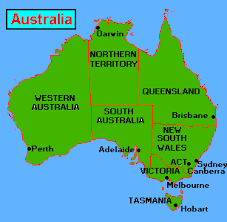 map of aus map of australia