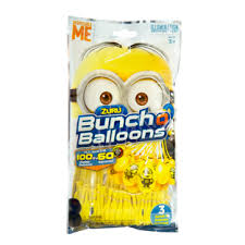 bunch of balloons bunch o balloons 3 pack minions