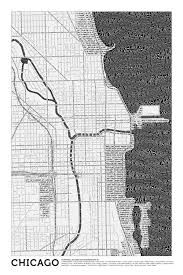 City Of Chicago Map by Infographic Of The Day City Maps Made Only Of Typefaces Where