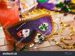 mardi gras trinkets mardi gras party mask festive decorations stock photo 245309578