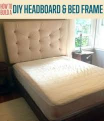 turning a box spring into a bed frame is budget friendly and a
