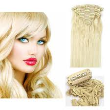 Blonde Hair Extensions Clip In by 18