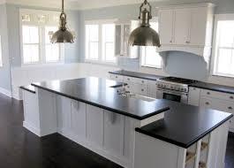 White Kitchen Cabinets Black Granite Countertops Picture Of Kitchen Remodel White Shaker Cabinets Design And Dark