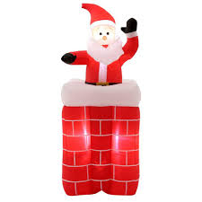 home accents 5 ft h animated santa rises from