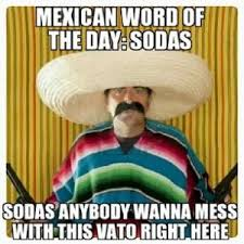 Funny Racist Mexican Memes - mexican word of the day sodas sodas anybody wanna mess with this