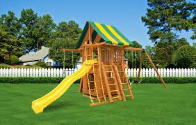 straight base dream 4 cedar swing set eastern jungle gym